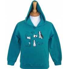 All Kinds of Dogs children's Hoodie teal