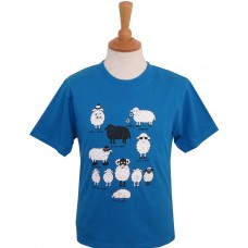All Kinds of sheep Childrens T-shirt Blue