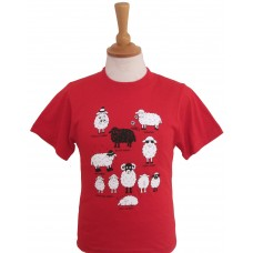 All Kinds of sheep children's T-shirt red