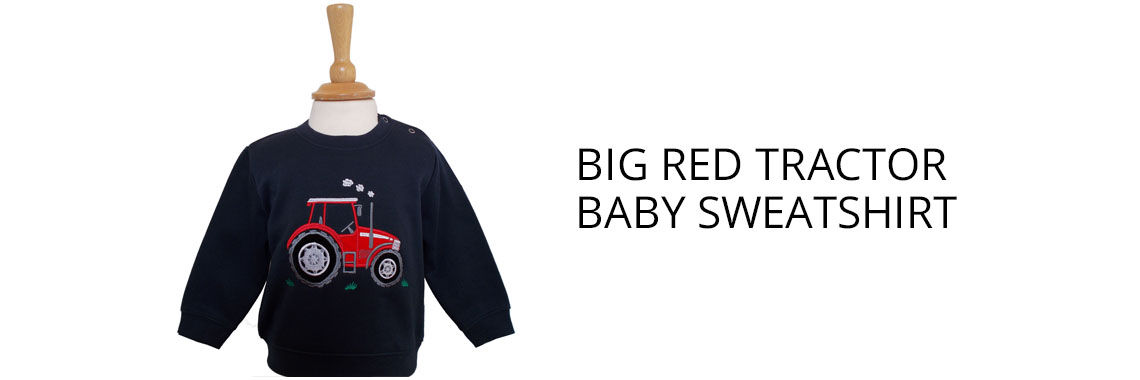 Big Red Tractor baby Sweatshirt
