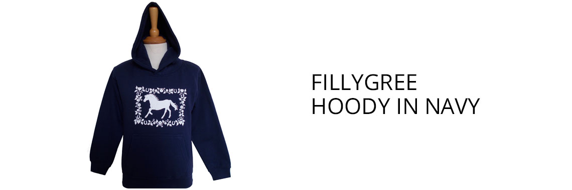 Fillygree Hoodie in Navy