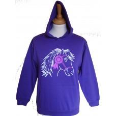 Bella adult hoodie Purple