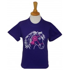 First Prize Pony childrens tee shirt in Purple