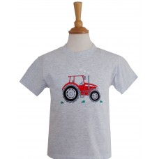 Big Red Tractor T-shirt in Ash Grey