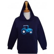 Blue Tractor Children's Hoodie