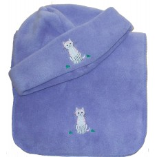 Candy Cat adult fleece hat & scarf set