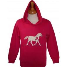 Champion Pony Hoodie in Fuchsia