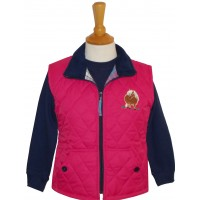 Fat Ponies Quilted Gilet fuchsia