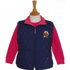 Fat Ponies Quilted Gilet navy