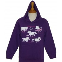 Horse World children's hoodie