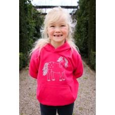 Glitter Twinkle Childrens Hoody Fuchsia