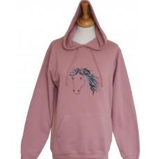 Dusty Pink Jet adult hoodie