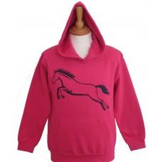 Jump adult hoodie fuchsia