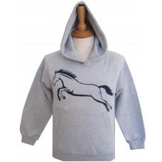 Jump adult hoodie grey