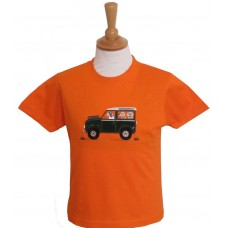 Offroader and Dogs T-shirt in Orange