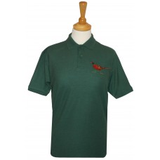 Pheasant embroidered Mens Polo shirt