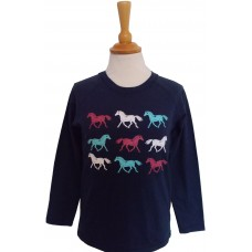 Rainbow Horses children's long sleeve T-shirt