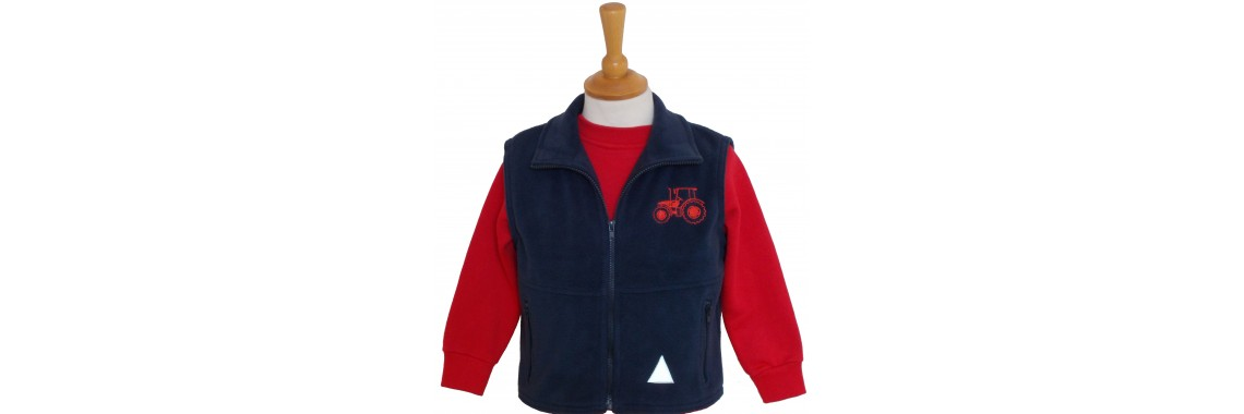 Red Tractor Fleece Gilet