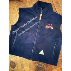 Tractor embroidered childrens fleece gilet