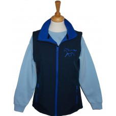 Silhouette Ponies ladies soft shell gilet navy