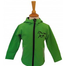 Silhouette ponies Ladies  soft shell jacket-lime