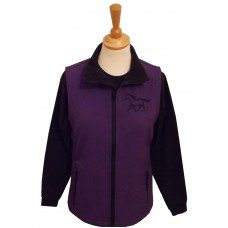 Silhouette ponies Ladies  soft shell gilet purple