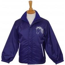 Silver Fleece Lined childrens Jacket purple