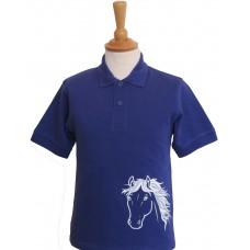 Silver Children's Polo Shirt PURPLE