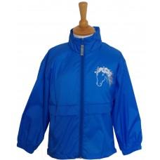 Silver childrens rain jacket
