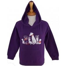 The Pack adult Hoodie purple
