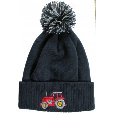 Tractor pompom hat