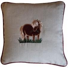 Shetland Pony Tweed cushion.