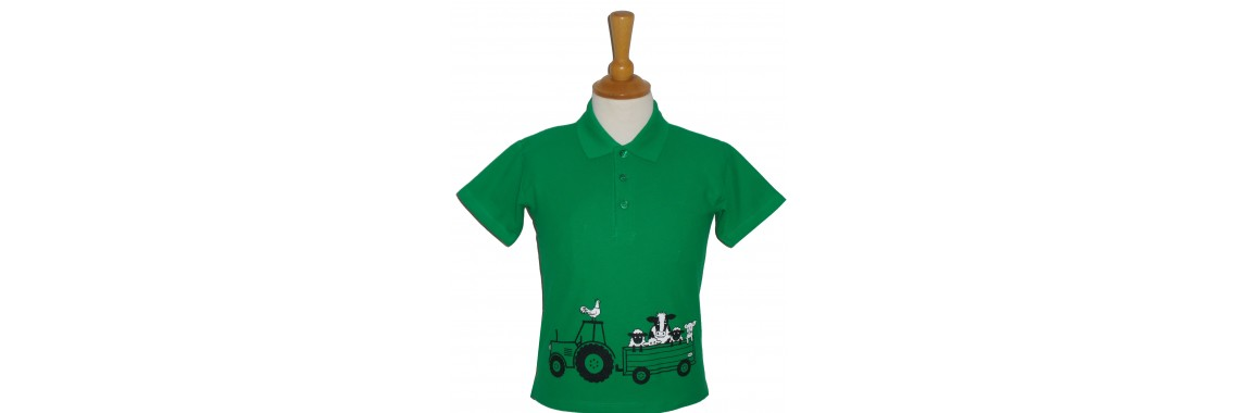 Tractor and Trailer Polo Shirt