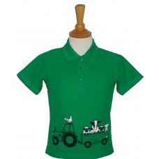 Tractor and Trailer children's polo shirt